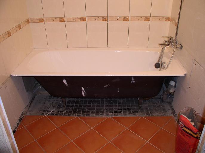 Ремонт ванной комнаты своими руками установка ванной